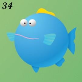 Buste Nascita Immagine Pesce Palla