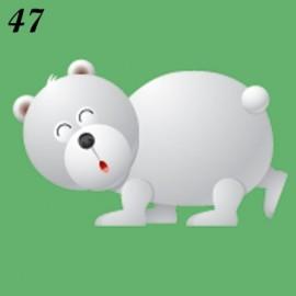 Buste Nascita Immagine Orso Bianco
