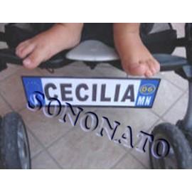 targa per passeggino personalizzata