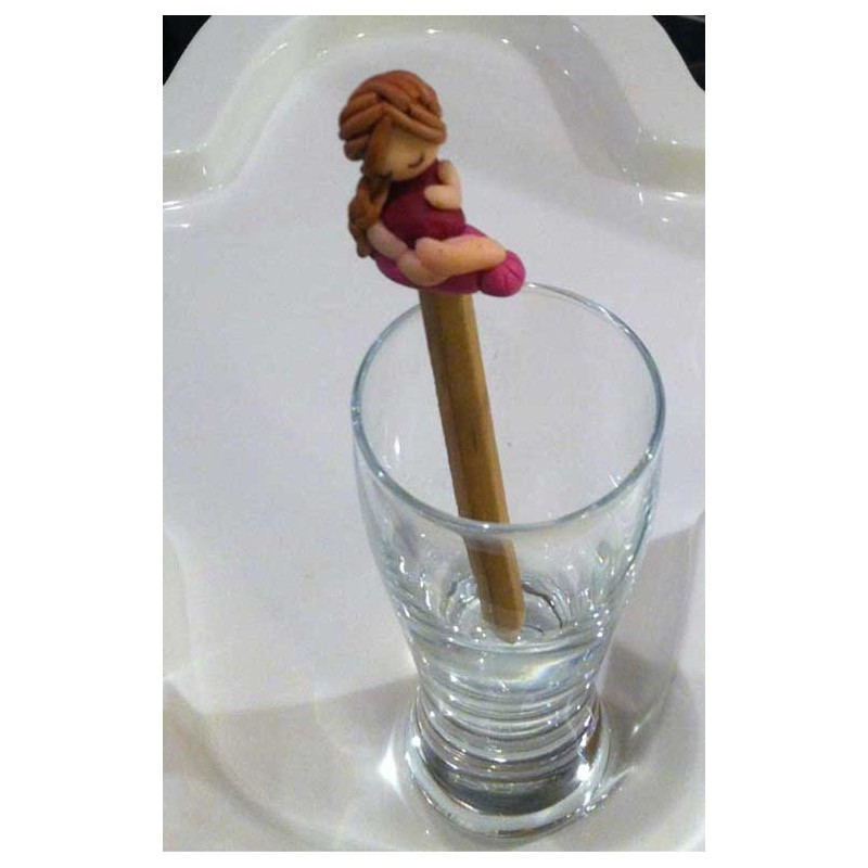 topper matita mamma con pancione