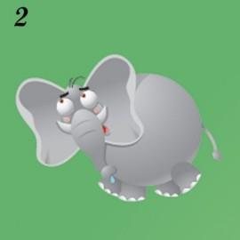 Lucina notturna immagine Elefante