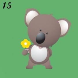 Lucina notturna immagine Koala con fiore