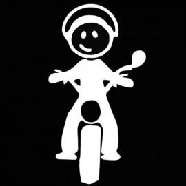 Famiglia Adesiva Bimbo Moto
