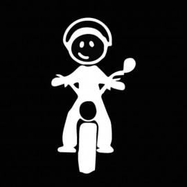 Famiglia Adesiva Bambino Moto