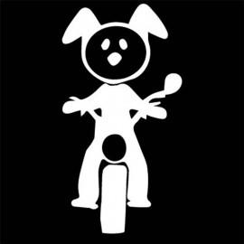 Famiglia Adesiva Cane Moto