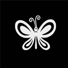 Famiglia Adesiva Farfalla