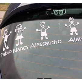 Adesivi Famiglia Bimba Grande