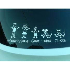 Crea la tua Famiglia su Adesivo personalizzato Bambina