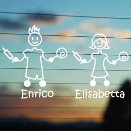 Adesivo Famiglia Papà e Mamma Medici