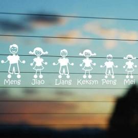 Adesivo Famiglia Cinese