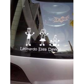 Crea il tuo Adesivo Famiglia Bambino Carrozzina