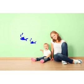 Adesivi Murali Pesciolino con bolle