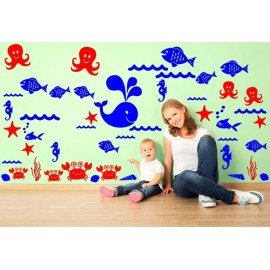 Adesivi Murali Animali Marini e Pesci