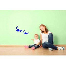 Adesivo Murale Pesciolino con bolle