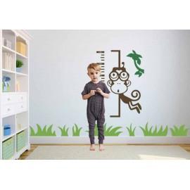 Adesivi Murali Scimmietta Metro con Bimbo