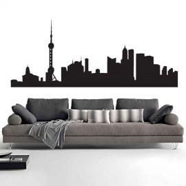 Adesivi Murali Skyline Shangai