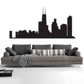 Adesivi Murali Skyline Chicago
