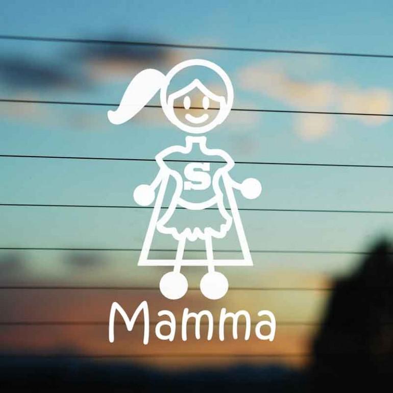 Adesivo Famiglia Super Mamma