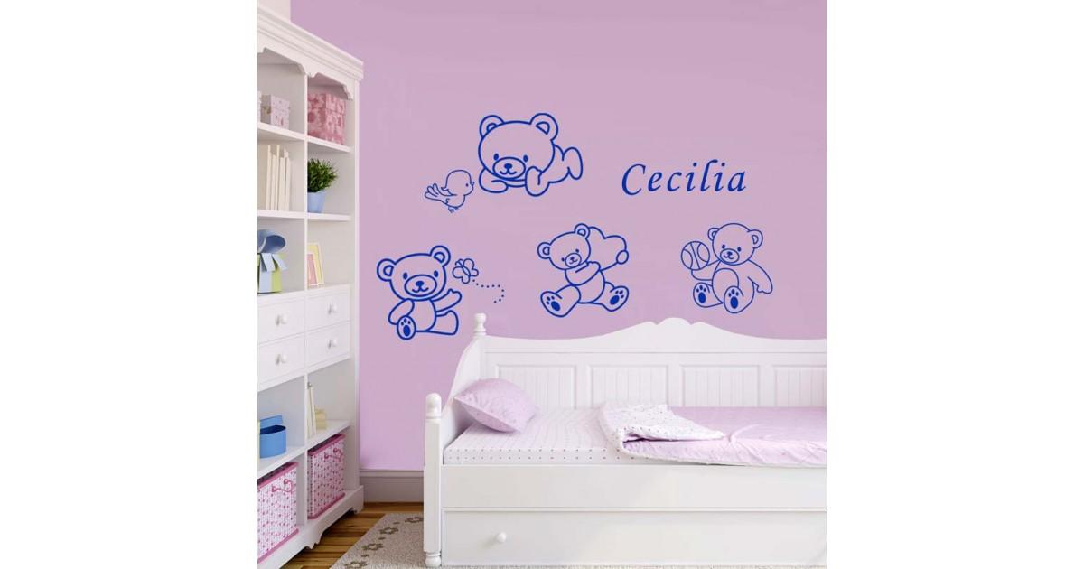 Decorazioni Pareti Orsetti : Decorazioni murali orsetti adesivi orsetti etsy adesivi murali