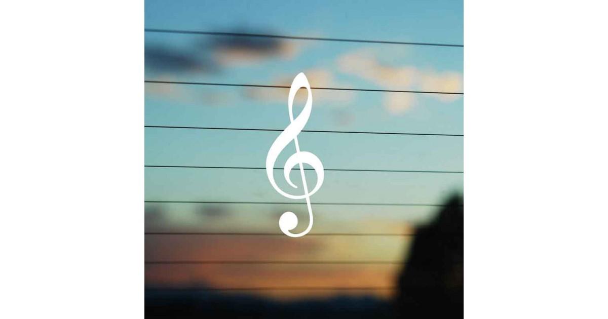 Adesivo Chiave Violino