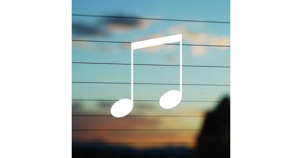 Adesivo Doppia Nota Musicale
