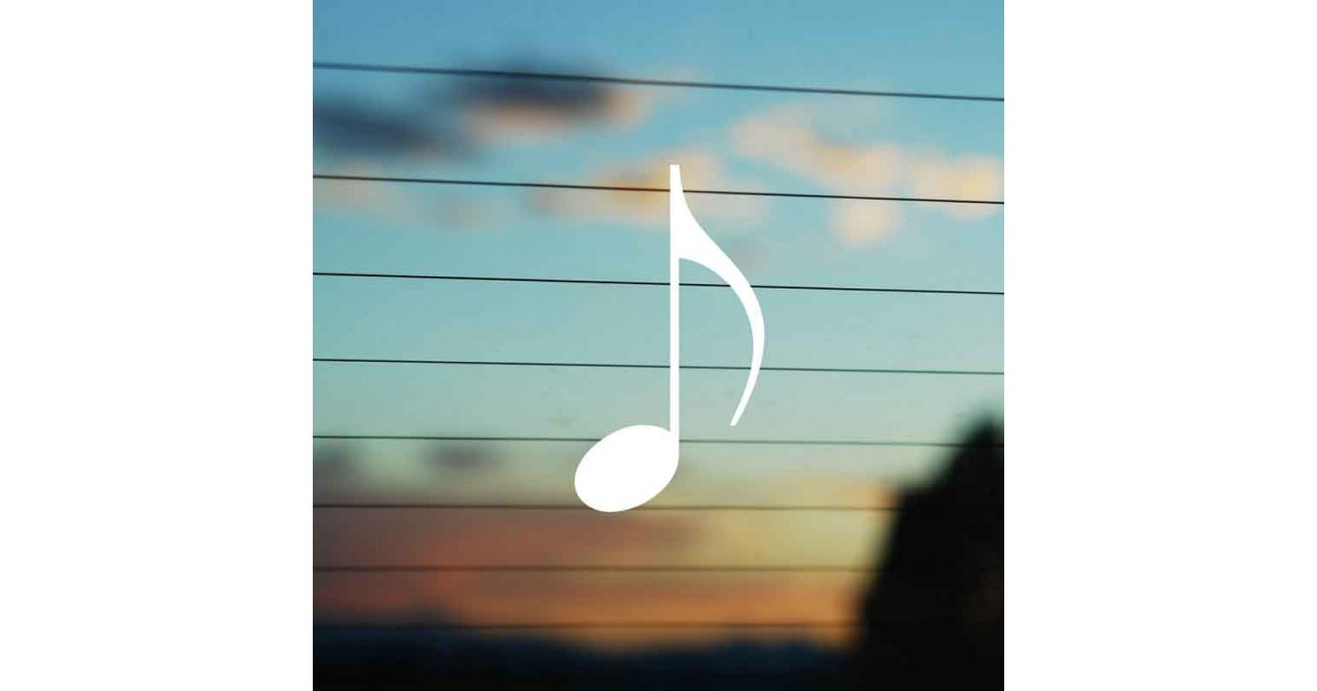 Adesivo Nota Musicale