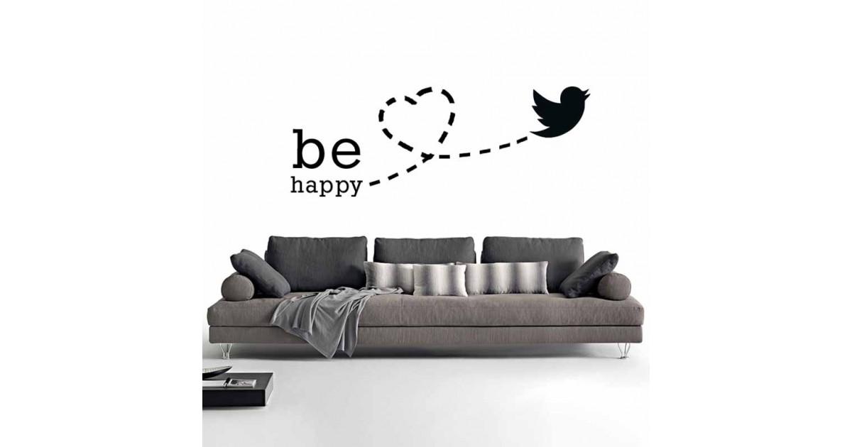 Adesivi Murali be happy