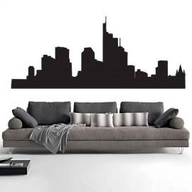 Adesivi Murali Skyline Francoforte piccolo