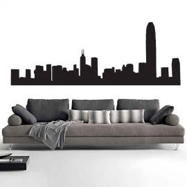Adesivi Murali Skyline Hong Kong piccolo