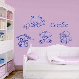 Adesivi Murali Orsetti piccoli