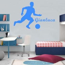 Adesivo Murale giocatore calcio con nome