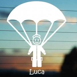 Adesivo Famiglia Papà con Paracadute