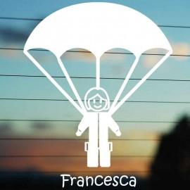Adesivo Famiglia Mamma con Paracadute