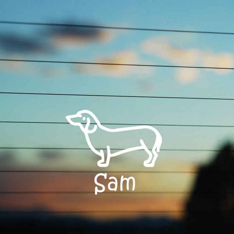 Adesivo Famiglia Cane razza Bassotto