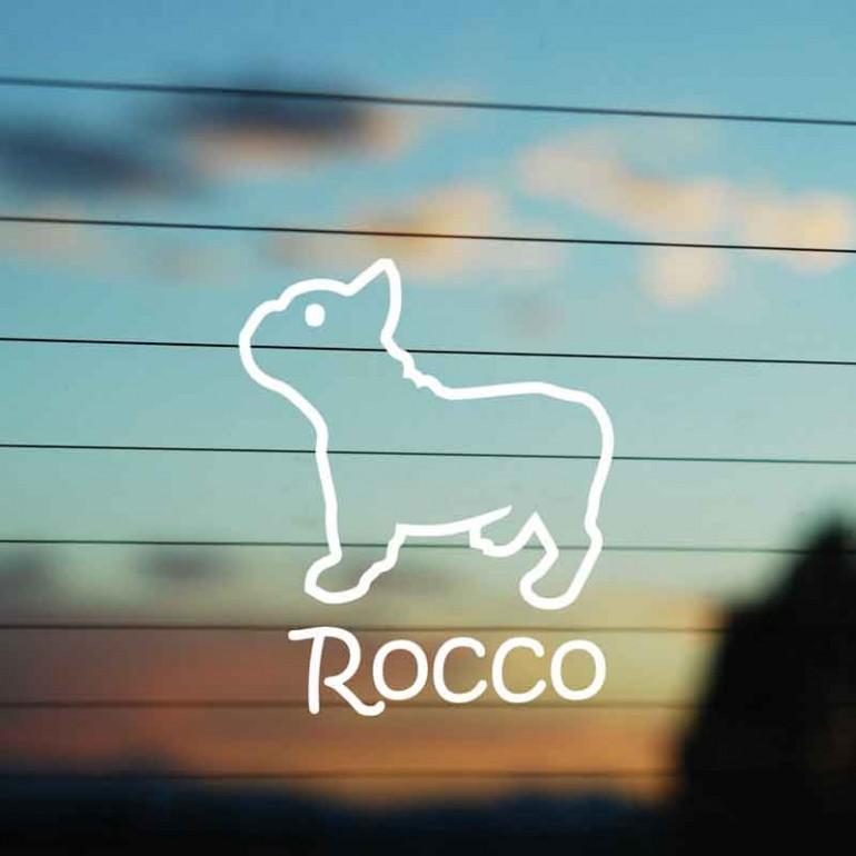 Adesivo Famiglia Cane razza Bulldog Francese