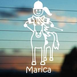 Adesivo Famiglia Mamma a Cavallo