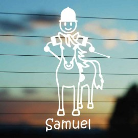 Adesivo Famiglia Bimbo Grande a Cavallo