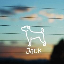 Adesivo Famiglia Cane razza Jack Russell