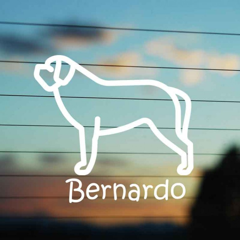 Adesivo Famiglia Cane razza San Bernardo