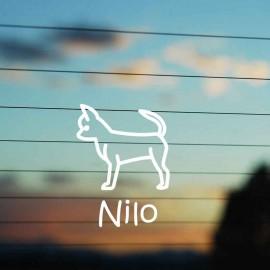 Adesivo Famiglia Cane razza Chiwawa
