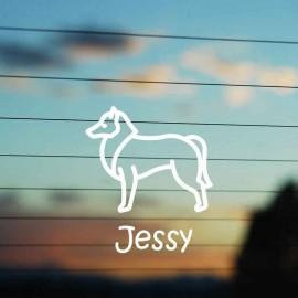 Adesivo Famiglia Cane razza Collie