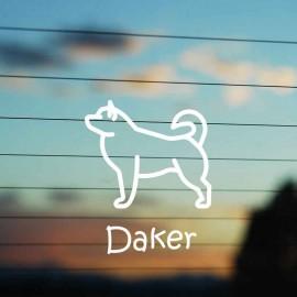 Adesivo Famiglia Cane razza Alaskan Malamute