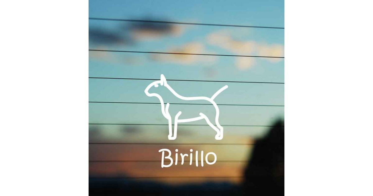Adesivo Famiglia Cane razza Bull Terrier