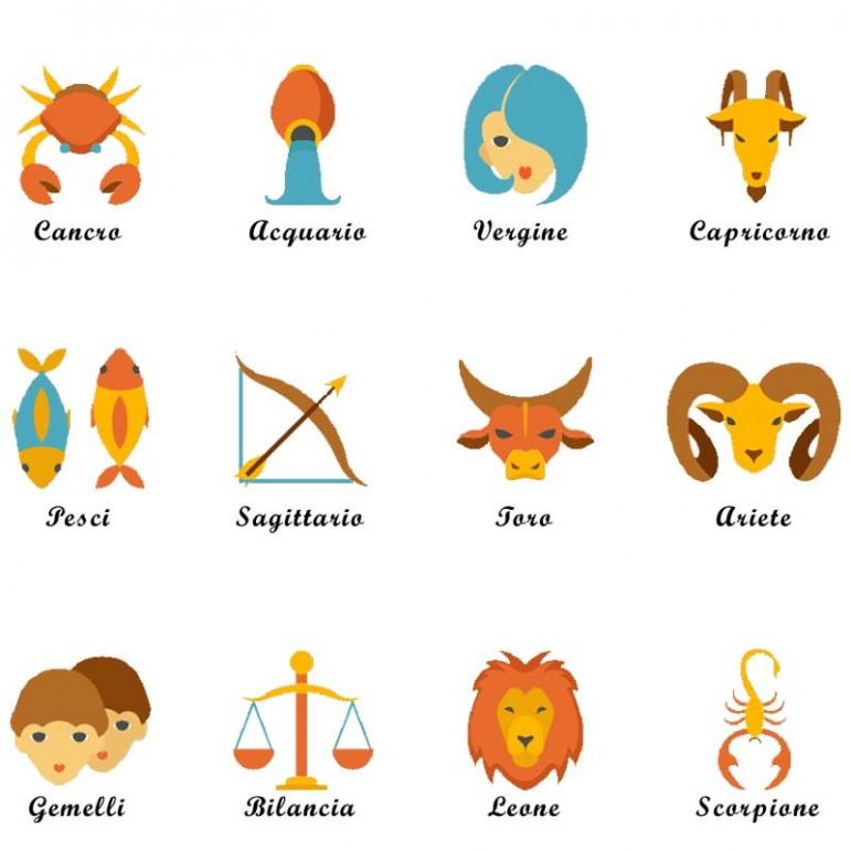 Sacchetti corredino ospedale elenco personaggi zodiaco