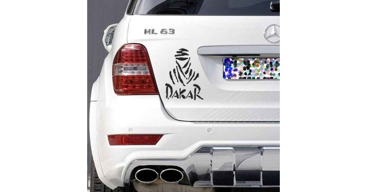Adesivo logo dakar auto bianca