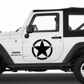 Adesivo zoom stella grande per Jeep auto bianca