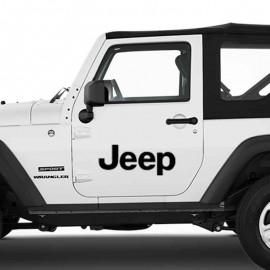 Adesivo zoom scritta per Jeep auto bianca