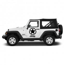 Adesivo stella scritta grande per Jeep auto bianca