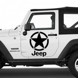 Adesivo zoom stella scritta grande per Jeep auto bianca