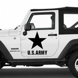Adesivo zoom stella U.S. Army per Jeep auto bianca